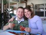 Eating crawfish