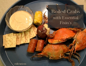 Boiled crabs with fixins