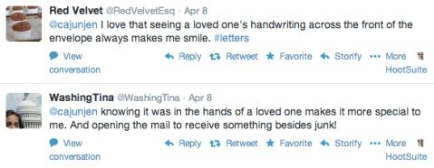snail mail tweets